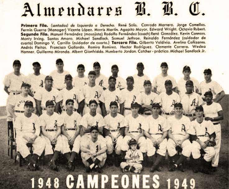 Alacranes de Almendares campeones 1949