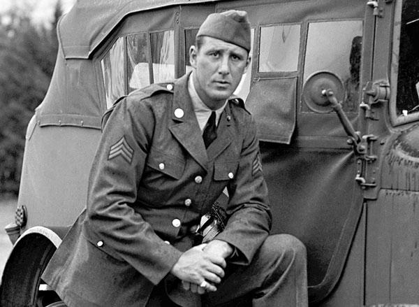 Hank Greenberg al inicio de su servicio
