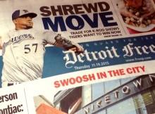 En su primera plana, el Detroit Free Press destaca la adquisición del 'Kid'