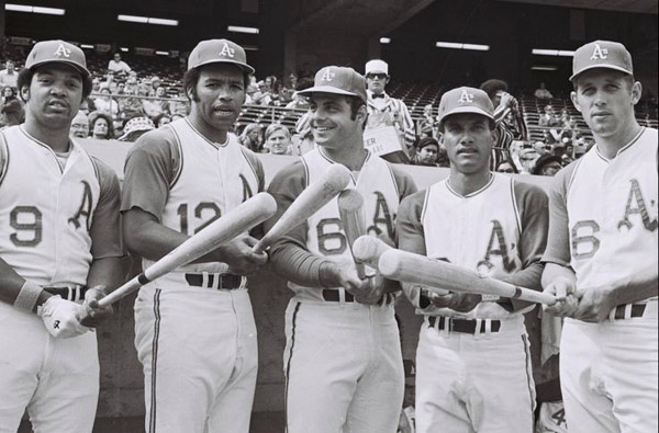Atléticos 70s: Reggie Jackson, Tommie Davis, Sal Bando, Bert Campaneris, Joe Rudi