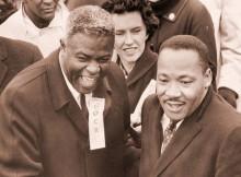 Jackie Robinson y Martin Luther King Jr., unidos en la historia